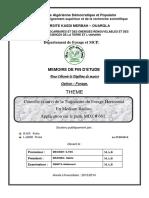 Contrôle et suivi de la Trajectoire du Forage Horizontal  En Medium Radius. Application sur le puits MDZ # 661.