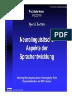 Huber, Neurolinguistische Aspekte Der Sprachentwicklung