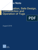 Guidance Note for the Classification Safe Design Construction and Operation of Tugs