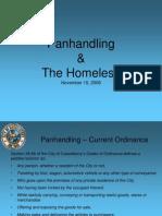 11102008 Panhandling and Homeless Presentation