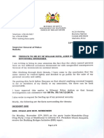 Alfred Mutua statement on threats.