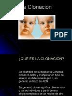 Presentacion diapositivas clonacion