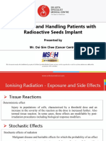 Identifying and Handling Patients With Radioactive Seeds Implant
