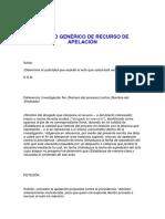 - MODELO GENÉRICO DE RECURSO DE APELACIÓN