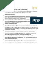 Assessor Assessment guideline