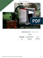 Microcut Mcu-5x Milling Machine