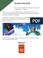 Lithuania Visa India