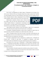 PRA de FCLC- reflexão