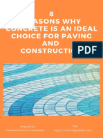 8 Reasons Why Concrete is an Ideal Choice for Paving and Construction