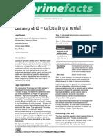 Leasing Land Calculating a Rental Dpi