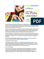 Right Balance Between Fun and Learning | Classroom Techniques to Make Learning Fun | Balance Between Fun and Study | Icon International Residential School<
