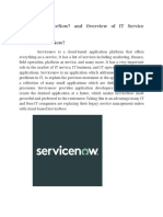 What is ServiceNow and Overview of IT Service Management.