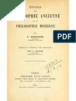 Études de philosophie ancienne et de philosophie moderne - V. Brochard