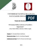 El Examen Médico Laboral, Su Necesidad e Importancia - TESIS - Fernando M.a. Rossi