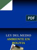 Ley Del Medio Ambiente en Bolivia II