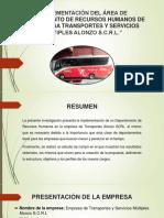 IMPLEMENTACIÓN DEL ÁREA DE DEPARTAMENTO DE RECURSOS - ppts (1)