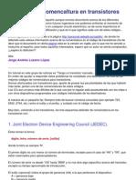 Códigos y la nomencaltura en transistores