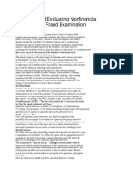 Obtaining and Evaluating Nonfinancial Evidence in a Fraud Examination