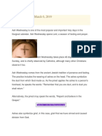 Ash Wednesday Meaning