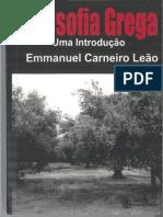 Emmanuel Carneiro Leão - Filosofia Grega Uma Introdução.