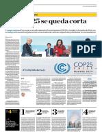La COP 25 Se queda Corta