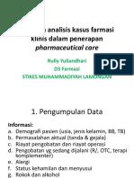 Tahapan Analisis Kasus Farmasi Klinis Dalam Penerapan