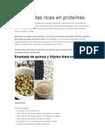 5 Ensaladas Ricas en Proteínas