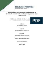 Relacion de dosaje etilico UCV