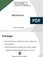 Aula 3 e 4 - PSICOLOGIA E ESCOLAS PSICOLOGICAS