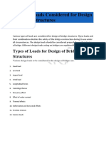 Types of Loads Considered for Design of Bridge Structures