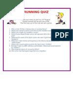 Running Quiz