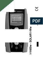 Manual de I-V400w - I-V500w - Solar I-Vw - Solar I-Ve