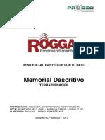 Memorial Descritivo Terraplanagem Residencial Porto Belo