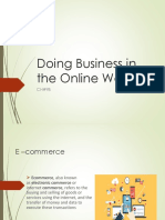 Doing Business in the Online World