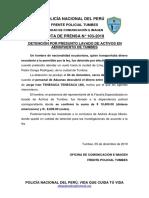 Notas de Prensa 05.12.19