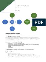 Strategic Management - Key Learning Points - 15.11