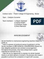 Catalytic Converter Anna university Notes