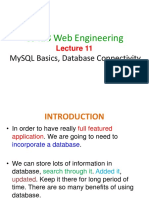 Web Engineering Lec11 - Database Connectivity Using PHP and Insert Record Into Database