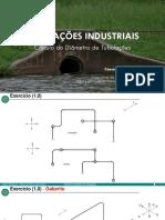 Calculo de diametro de tubulacoes industriais