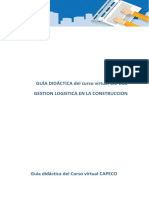 Guia Didactica del Curso Virtual GESTION  LOGISTICA-CAPECO