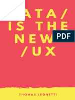 Data is the new UX