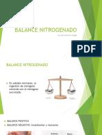 BALANCE NITROGENADO