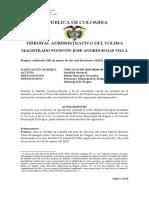 73001-23-33-002-2018-00204-00 Electoral - Efraín Hincapié G. vs. Personero Municipal de Ibagué - Inhabilidad Temporal y Contratación