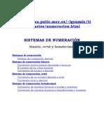 sistema de numeración, binario octal y hexadecimal