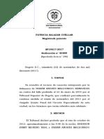 Sentencia Colombina sobre hechos jurídicos relevantes.