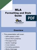 MLA Formatting Guide