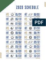 2020 Winnipeg Blue Bombers Schedule