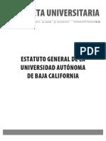 Gaceta 433-Edición Especial-Estatuto General de la Universidad Autónoma de Baja California