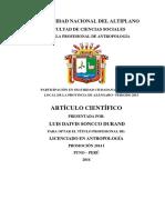 ARTICULO seguridad ciudadana en azangaro