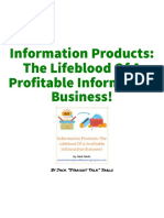 Information Products the Lifeblood of a Profitable Information Business